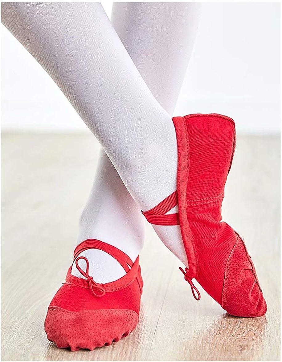 Kids Girls Ballet Shoes Canvas Split Sole Flat Dance Slippers for Women Elastic Soft Yoga Gymnastic Shoes