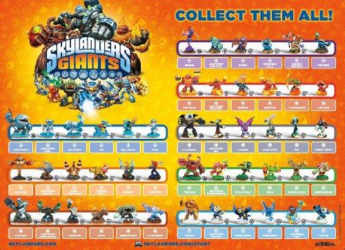 Skylanders Giants Figure Poster 21' X 15'