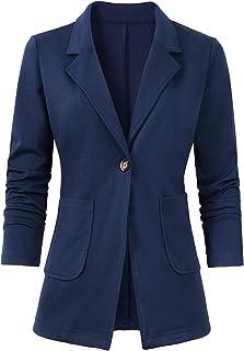 Women's Casual Work Office Blazer Open Front Long Sleeve Cardigan Jacket