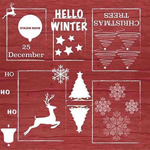 Home Direct Tovaglia in Tela Cerata plastificata Rettangolare 140 x 200cm, Natale, Rosso