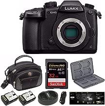 Panasonic Lumix DC-GH5 Mirrorless Camera Body, Black with V-Log L Function Firmware Upgrade Bundle