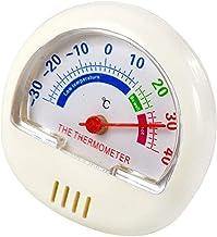GXT Higrómetro Pequeño Termómetro analógico para Exteriores para Exteriores Fábrica Habitación para bebés Cocina de Invernadero Celsius Pantalla (Blanco)
