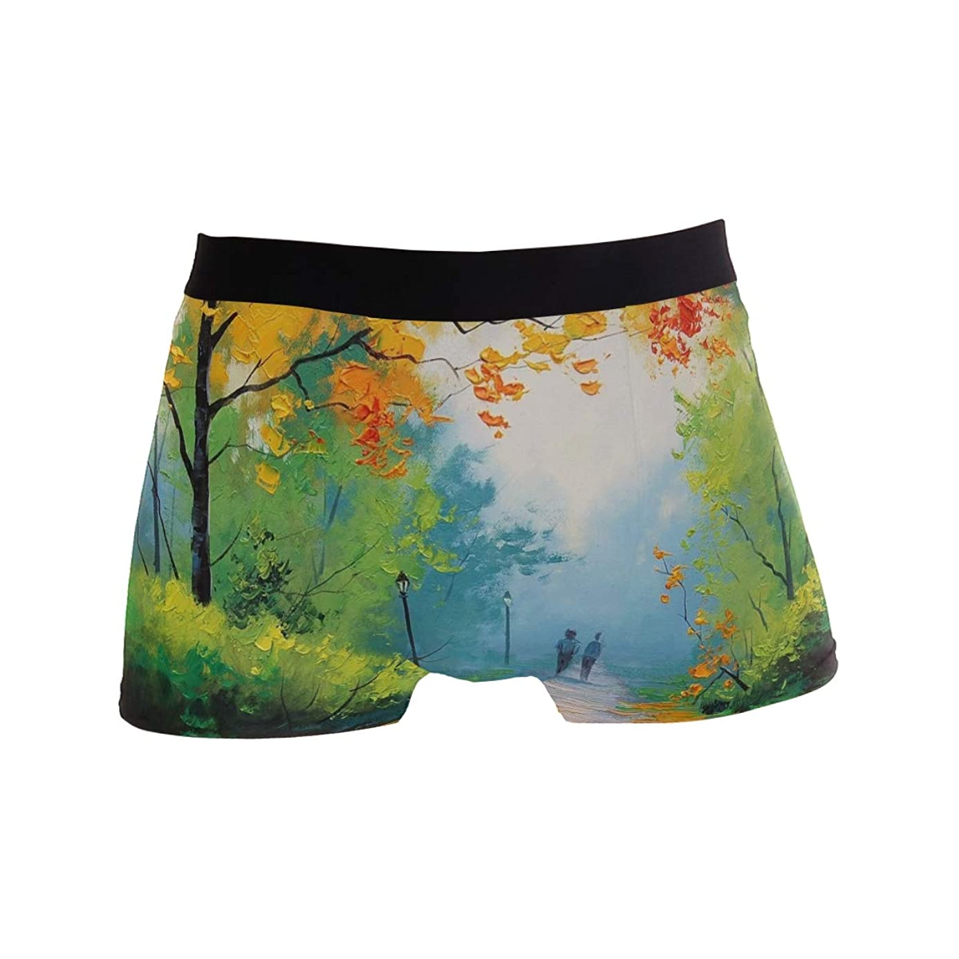 Beautiful Nature Scenery Painting Men's Boxer Briefs Regular Soft Breathable Comfortable Underwear