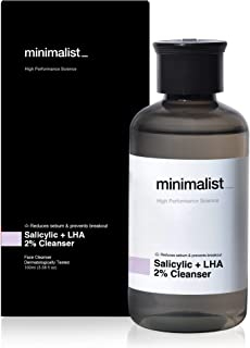 Minimalist 2% Salicylic Acid Face Wash for Oily, Acne Prone Skin (100 ml) | Sulphate free, Anti Acne Face Cleanser With LH...