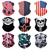 Sojourner 9PCS Seamless Bandanas Face Mask Headband Scarf Headwrap Neckwarmer & More – 12-in-1 Multifunctional for Music Festivals, Raves, Riding, Outdoors (9PCS Galaxy Series 1)