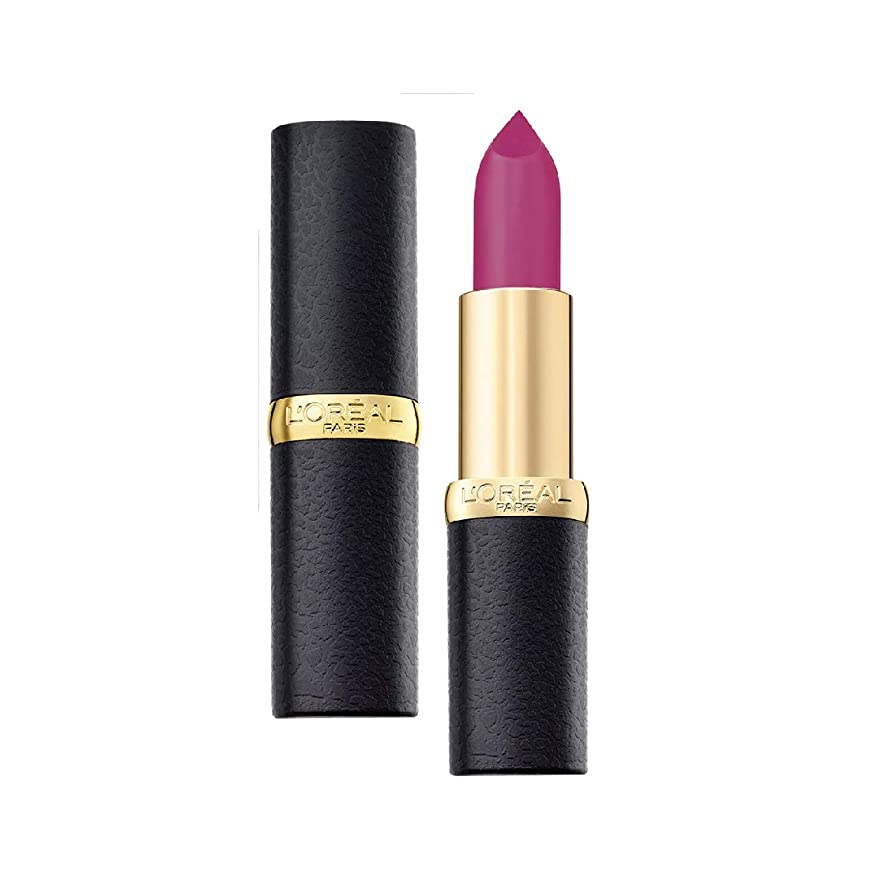 銃精神的に対立L'Oreal Paris Color Riche Moist Matte Lipstick, 206 Glamour Fuschia, 3.7g