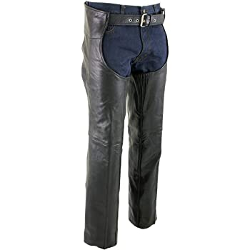Xelement B7400 Classic Mens Fitted Leather Pants 32