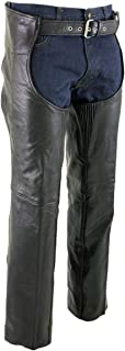 Xelement 7554 Men's Black Advanced Dual Comfort Leather Chaps - 36