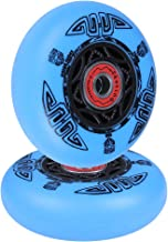 AOWISH Ripstik Wheels [2-Pack] 76mm Ripstick Wheels 90A Razor Ripsurf Caster Board Replacement Wheel with Pre-Installed Bearings ABEC 9