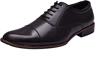 Sir Corbett Men's Black Synthetic Oxford Lace Up Shoes