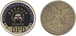 Ladaidra Commemorative Coin Detroit Police US Saint Michael Collection Art Gifts Souvenir