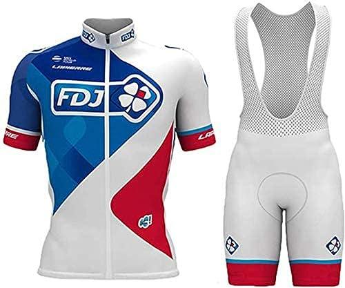 logas Maillot Cyclisme Homme Tenue de Vélo Equipe Pro Vetement Sport Jersey de Velo+Cuissard avec 3D Gel Rembourrée
