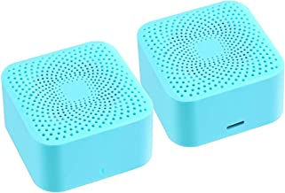 True Wireless Bluetooth Speakers, Latest Small Twin Portable Mini Speaker (TWS) 360° Stereo Surround HD Sound for Home/Shower/Pool/Travel/Outdoors/Gifts-2-pack (Blue)
