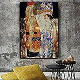 キャンバス塗装 グスタフ・クリムト油絵ポスターによる北欧の壁画リビングルームの写真 50*75cm