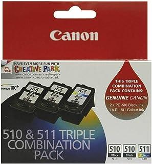 Genuine Canon PG-510 + CL-511 Triple Ink Cartridge Pack