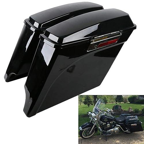 "4.5/"" Vivid Black Hard Saddlebag Stretch Extension For 2014-2017 Harley Touring"