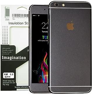 Toeoe 6s Plus/6 Plus (5.5'') High-strength and Super-thin Tough Metallic Film Sticker Full Body Protector Skin for iPhone 6 Plus/6s Plus Black