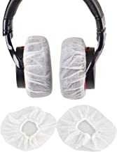 100Pcs White Non-Woven Sanitary Headphone Ear Cover, Disposable Super Stretch Covers Germproof Deodorizing and Washable, for Most On Ear Headphones with 10~12cm Earpads (XL - 13cm)