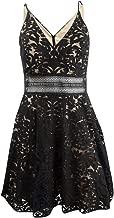 Xscape Womens Lace V-Neck Party Dress