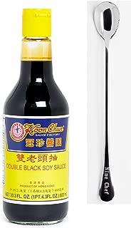 Koon Chun (guan zhen) Seasoning (Double Black Soy Sauce, 1 Bottle) + One NineChef Spoon