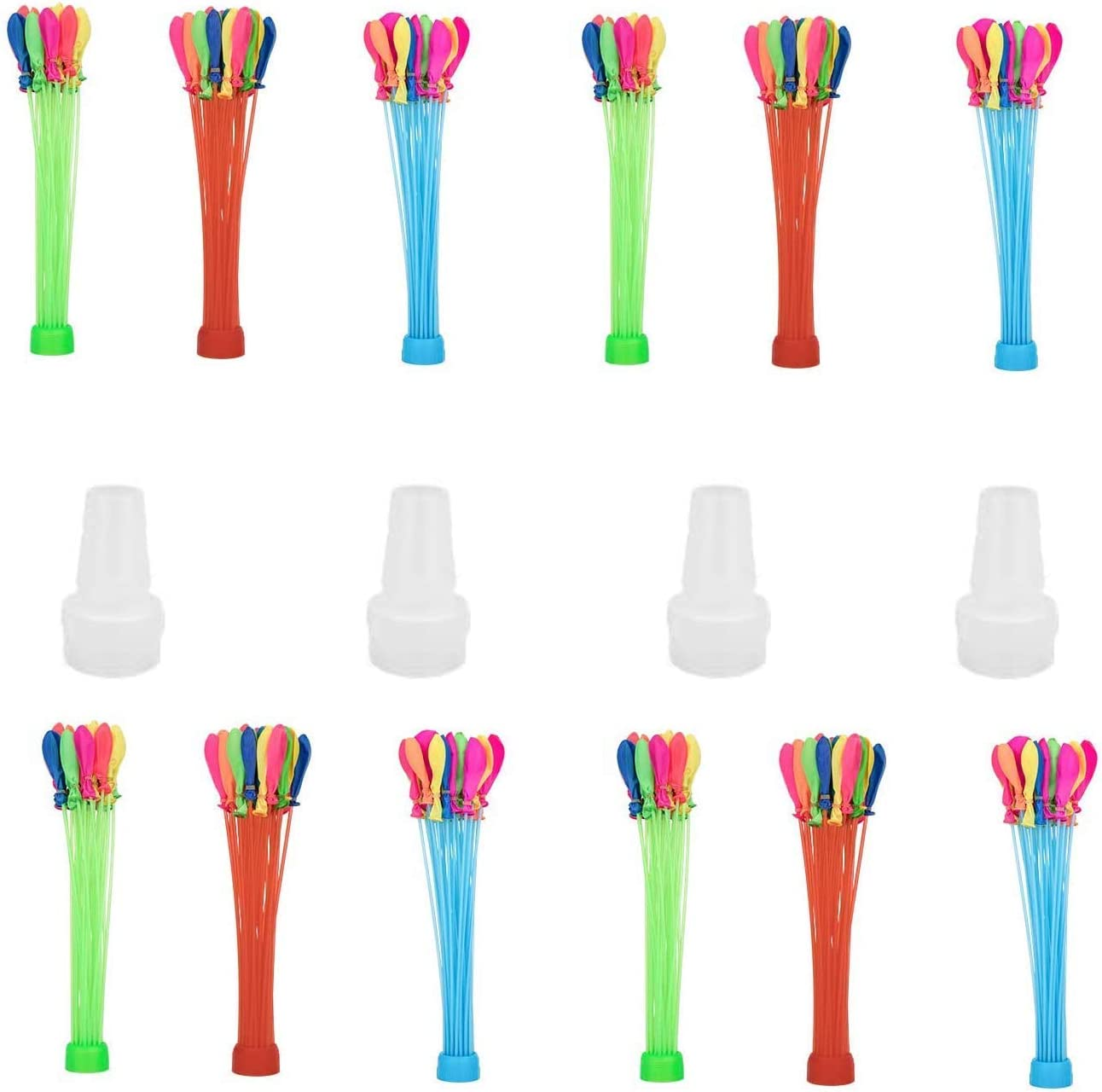 Water Balloons Quick Fill Self Sealing for Kids and Adults Fun Party Water Balloon 444 Water Balloons Multicolor Bunch of Balloons Fill in 60 Seconds