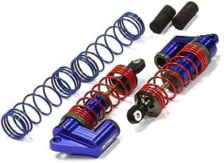 Integy RC Model Hop-ups T7963BLUE MSR9 Front Piggyback Shocks for Traxxas 1/10 Stampede 2WD Rustler 2WD Slash 2WD