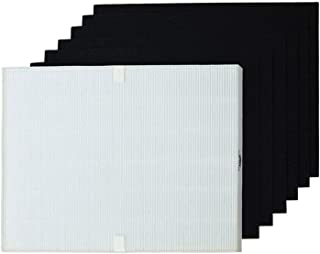 PUREBURG Replacement HEPA Air Filter and 6 Carbon Pre-Filters Compatible with Fellowes HF-300 fits Fellowes AP300PH HF300 ...