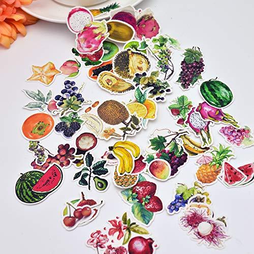 BLOUR leuke hand maken kleurrijke kleine vruchten levensmiddelen stickers decoratie drooglijm/handboek dagboek briefpapier stickers 49 stuks