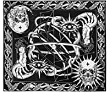 Eclipza Tarot Tapestry - Gothic Witch Tapestry, Sun and Moon, Trippy, Sacred Geometry, Skull and Astrology Wiccan Wall Hanging Art for Bedroom with No-Trace Nails (59.2 x 78.8 inches)