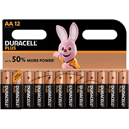 Duracell Plus Alcalines Type Aa 1,5 Volts Mn1500 Lr6, Le Lot de 12 Piles