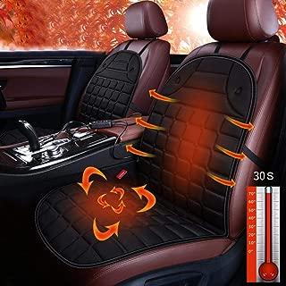 24V Asiento de Calefacci/ón de Coche Cubierta con Controlador de Temperatura Inteligente INTELZY Fundas de Asientos para Camiones 1 Pack,Negro
