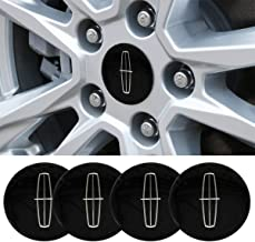 4 x 56.5mm Car Lettering BBS Wheel Center Cap Sticker Wheel Emblem Badge Logo Stickers (fit Lincoln)