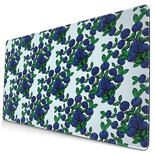 Ahdyr Gaming Mousepad Blue Berry Blueberry Extended Gaming Mouse Pad avec Bords Cousus Long Mousepad (29.5x15.7In) Desk Pad Keyboard Mat Base antidérapante Résistant à l'eau