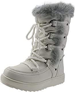 Orgrimmar Girls Warm Wool Waterproof Snow Boots