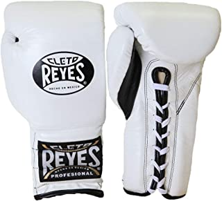 Cleto Reyes Boxing Training Gloves With laces and attached thumb - White - 14-Ounce