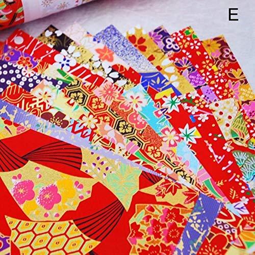 Materiales hechos a mano Líneas doradas Grúa de papel Materiales de embalaje de regalo Origami Paper Flower Square Scrapbook Papers, Style E 10.5x10.5cm