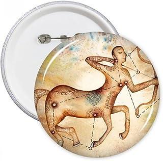 DIYthinker Novembre Décembre Sagittaire Constellation Ronde Badge Bouton Pins Vêtements Décoration cadeau 5pcs Multicolore XL
