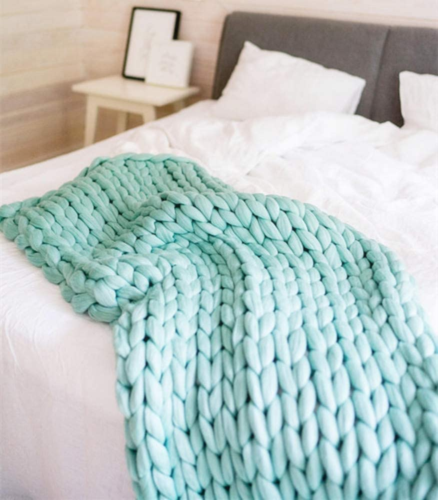 Chunky Knit Throw Popular shop is the lowest price challenge Blanket Arm Knitted New product! New type Sofa Cushion Pad Ma Chair