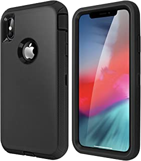 iPhone Xs Max Case, Heavy Duty, Schockproof and Tough Armor Designed Phone Case for Apple iPhone Xs Max 6.5'' 2018 -Black