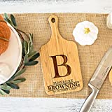 Personalized Mini Bar Cutting Board, 5 x 11 (Browning Design) | Small Engraveable Charcuterie Platter for Kitchen | Ideal Gift for Wedding, Housewarming, Christmas Gift for Mom