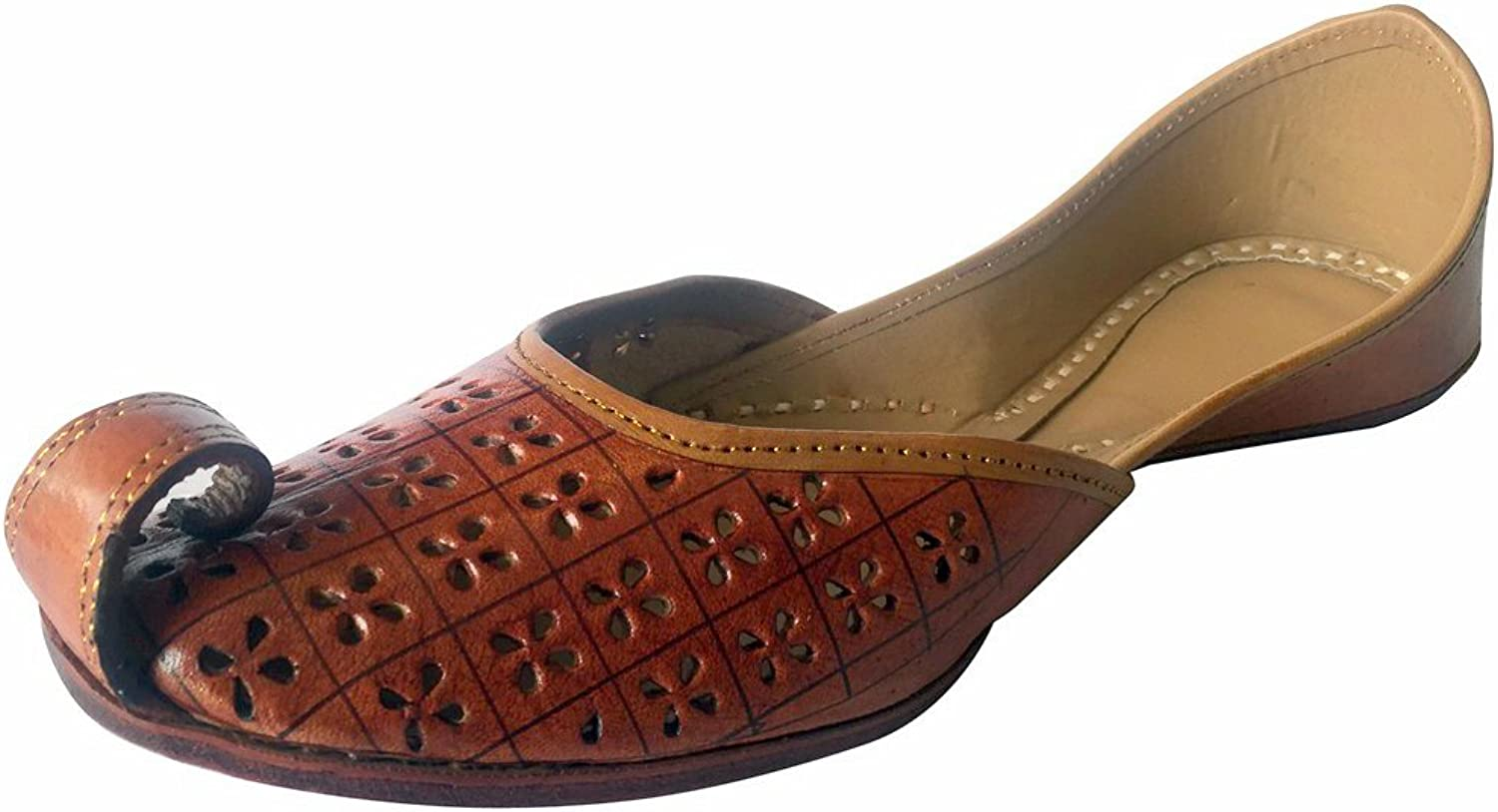 Step n Style Handmade Embroidered Women Sandal Flip Flop Style Traditional Bronze