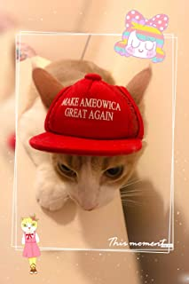 Unekorn Ultra Comfort Adjustable Make Ameowica Great Again MAGA Trump Slogan Cat Hat Pet Costume for Halloween Parties and Instagram Pictures Make America Great Again Cat Hat