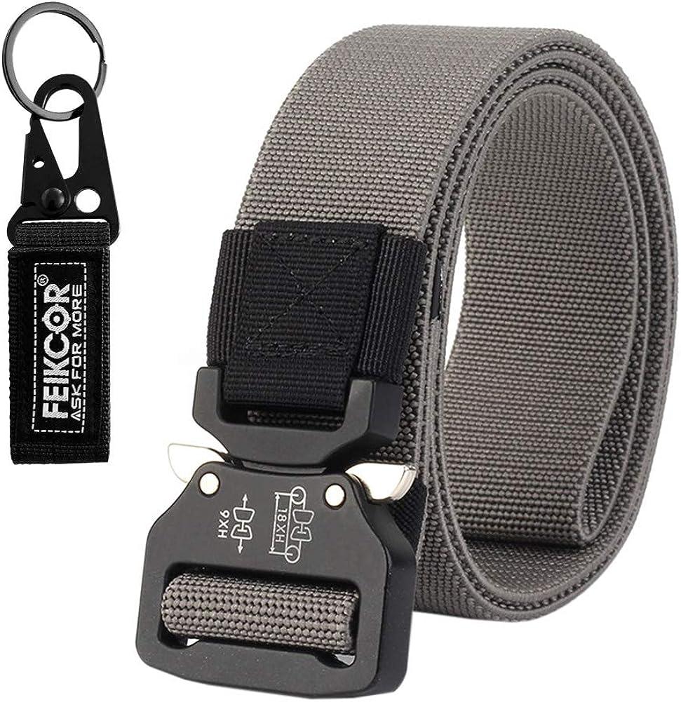 Tactical belt Military Nylon Webbing Belt with Heavy Duty Buckle