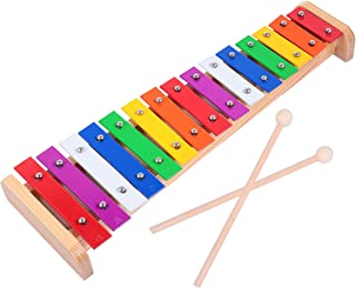 ULTNICE Kids Xylophone Toy Wood Percussion Instrument 15 Note Hammering Pounding Montessori Educational Toy for Toddler Ch...