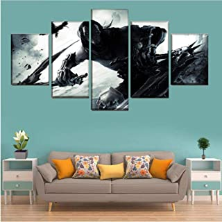 HNFSSK Canvas Painting A Set of Canvas Painting 5 Pieces Game Darksiders 2 Poster Hd Print Picture for Living Room Wall Artist Residence Decoration-SIZE2