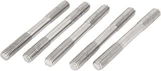Uxcell a15032700ux0075 M8 x 80mm A2 Stainless Steel Double End Threaded Stud Screw Bolt (Pack of 5)