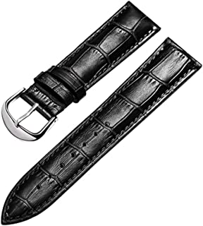 Watch Bands Leather Fashion Strap Men's and Women's Crocodile Pattern Replacement Watch Accessories