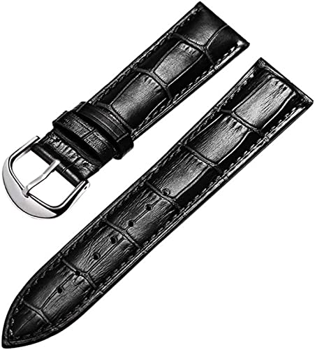 HVDHYYWatch Bands Leather Fashion Strap Men's and Women's Crocodile Pattern Replacement Watch Accessories