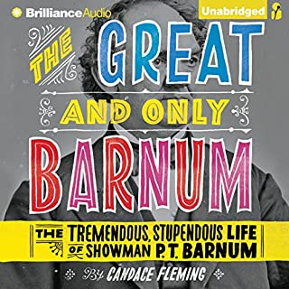 The Great and Only Barnum audiobook cover art