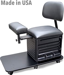 2318 Prime Salon Spa Pedicure Station Stool with Footrest & Back Support by Dina Meri